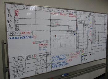 Kaienハート広報部3課で使うMTG用ホワイトボード。やることはたくさんあります!