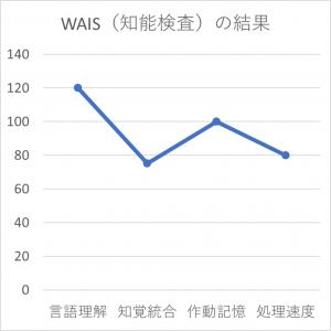 AさんのWAIS(知能検査)結果グラフ